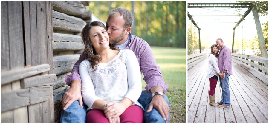Tannehill State Park Engagement Couple Portraits Alabama